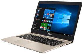 ASUS VivoBook Pro 15 (Core i7-7th Gen/16 GB/1 TB + 128 GB SSD/39.62 cm (15.6 Inch) UHD /Windows 10/4GB Graphics) Thin & Light Laptop N580VD-FI418T (Gold, 2Kg)