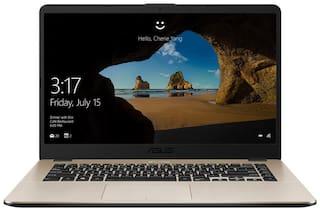 "ASUS X505 ( Ryzen 3 Dual Core /4 GB/1TB / 15.6"" FHD/ Windows 10 ) Thin & Light Laptop X505ZA- EJ492T ( Icicle Gold /1.6 kg)"