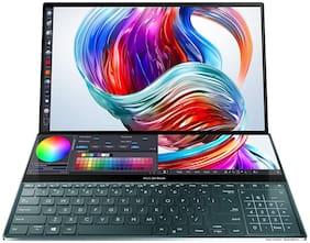 ASUS ZenBook Pro Duo Intel Core i7-10750H 10th Gen 15.6 4K UHD OLED Touchscreen Laptop (32GB RAM/1TB NVMe SSD/Windows 10/6GB NVIDIA GeForce RTX 2060 Graphics/Celestial Blue/2.5 Kg)  UX581LV-H2034T