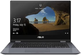 Asus ZenBook Flip 14 (Intel Core i3-10th Gen 4 GB RAM 512 GB SSD/35.6 cm (14 inch)/Windows 10) TP412FA-EC372TS (Silver Blue, 2.04 kg)