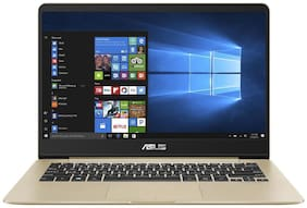 ASUS ZenBook 14 14.0-inch Laptop (8th Gen Core i5-8250U/8GB/SATA 256GB SSD/Windows 10/Integrated Intel UHD 620 Graphics/Thin & Light) UX430UA-GV573T (Gold, 1.30kg)