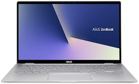 Asus ZenBook Flip 14 (AMD Ryzen 7-7th Gen 8 GB RAM 512 GB SSD/35.6 cm (14 inch)/Windows 10) UM462DA-AI701TS (Light Grey, 1.6 kg)