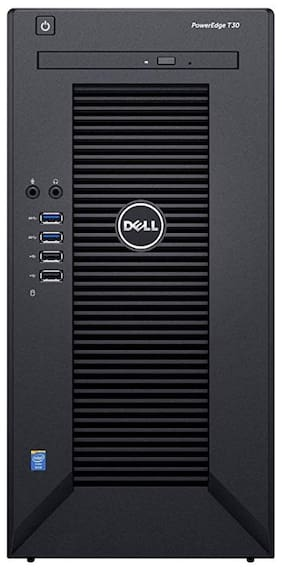 Dell Poweredge T30 Mini (Intel Xeon E3-1225 V5 3.3G/8 M Cache/8GB RAM/1 TB HDD/Linux) Tower Server Desktop (Black)