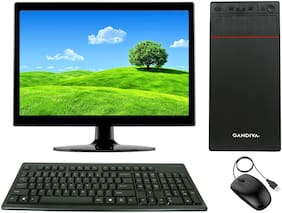 Gandiva Economical C2D Desktop Computer(Core2Duo CPU/4GB DDR3 RAM/160GB HDD/15.6 inch Monitor/WiFi)Windows 10&MS Office(Trial Version)& Antivirus(Free Version)
