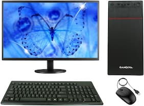 "Gandiva Economical Ci31St Desktop Computer(Core I3 1St Gen Cpu/8Gb Ddr3 Ram/500Gb Hdd/18.5"" Monitor/Wifi)Windows 10&Ms Office(Trial Version)& Antivirus(Free Version) (Gandivaci3850018.5Newwifi)"