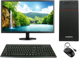 "Gandiva Economical C2D Desktop Computer Intel Pentium(Core2Duo CPU/4 GB DDR3 RAM/500 GB HDD/15.6"" Monitor/WiFi)Windows 7 & MS Office(Trial Version)& Antivirus(Free Version)(GANDIVAC2D450015.6WIFI-F1)"