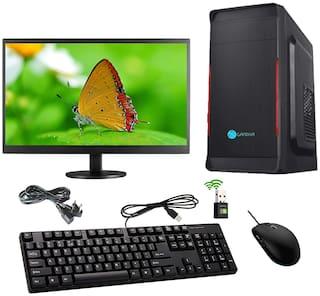 Gandiva Economical C2D Desktop Computer G31 Motherboard/Intel Core 2 Duo-1st Gen/4 GB RAM/500 GB HDD/Windows 10/18.5 inch Monitor/WiFi/Windows 10, MS Office(Trial Version) & Antivirus(Free Version)