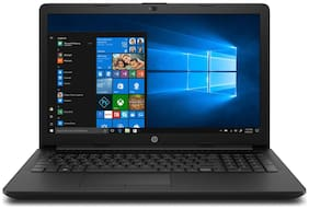 "HP 15-da0352tu Laptop (Core i3 7th Gen 7020 @2.3GHz/ 4GB DDR4 Ram/ 1TB SATA Hdd/ 15.6"" FHD SVA anti-glare WLED-backlit Display/ Integrated DVD+RW/ Windows 10 Home 64bit + MS Office) (Black)"