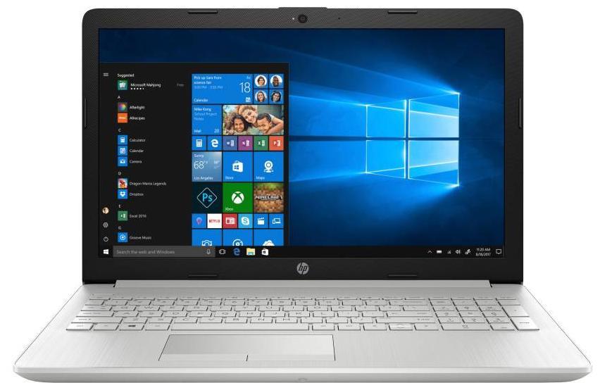 HP 15 (Core i3 - 7th Gen / 4 GB RAM / 1 TB HDD / 39.62 cm (15.6 Inch FHD) / Windows 10)15-da0326tu (Natural Silver   1.9  kg)