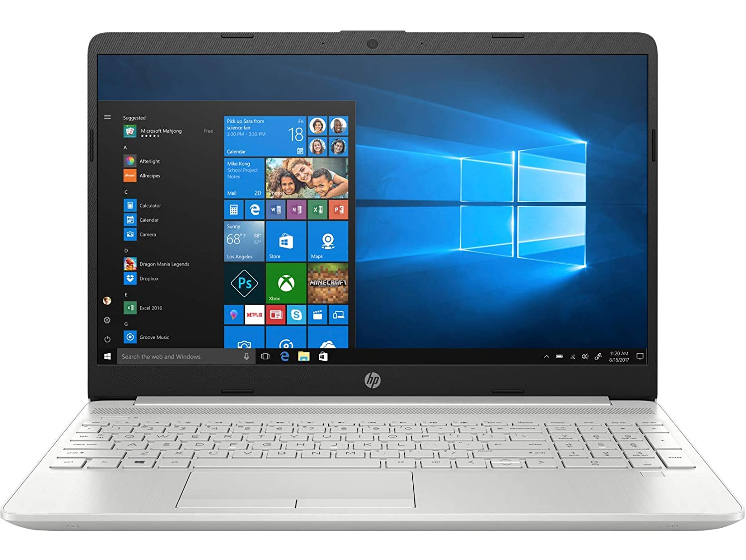 HP 15 Thin   Light 15.6 inch FHD Laptop  11th Gen Intel Core i5 1135G7, 8 GB DDR4, 1TB HDD, Windows 10 Home, MS Office, Integrated Graphics, FPR, Natur