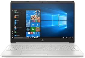 HP 15 Thin & Light 15.6-inch FHD Laptop (11th Gen Intel Core i5-1135G7, 8GB DDR4, 256GB SSD + 1TB HDD, Win 10 Home, MS Office, 2GB MX350 Graphics, FPR, Natural Silver, 1.76 Kg), 15s-du3047TX
