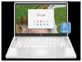 HP Chromebook 14a-na0002tu (Intel Celeron N4020/4 GB RAM/64 GB eMMC/14 inch/HD/SVA/BrightView/Micro-Edge/WLED-backlit/Touch Screen/Chrome OS/Without Optical Drive) (Ceramic White, 1.5 Kg)