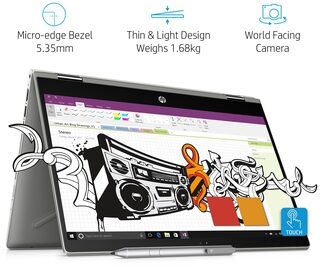 HP Pavilion x360 (Core i7 -8th Gen/8GB/1TB + 16 GB Optane/35.56 (14 Inch) FHD touchscreen/Windows 10 (Microsoft Office H&S)/4 GB Graphics) 14-CD0055TX Convertible Laptop (Mineral Silver, 1.68 kg)