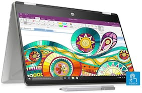 HP Pavilion x360 Core i5 10th Gen 14-inch FHD Touchscreen 2-in-1 Alexa Enabled Laptop (8GB/256GB SSD/Windows 10/MS Office/Inking Pen/FPR/Natural Silver/2.39 kg)  14-dh1010TU 8GA79PA