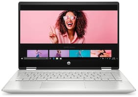 HP Pavilion x360 14-dh1180tu (Intel Core i7-10510U(10th Gen)/8 GB RAM/512 GB SSD/35.56 cm (14 inch)/Windows 10 Home/Intel UHD Graphics) (Mineral Silver, 1.58 kg)