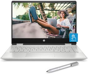 HP Pavilion x360 (Core i3-8th Gen/4GB/256GB SSD/14 inch Touchscreen/Windows 10/MS Office/Inking Pen) 14-dh0101TU 2in1 Laptop (Natural Silver, 1.59 kg)