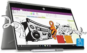 HP Pavilion x360 Convertible(Core i3-8th Gen/4 GB/1 TB + 8 GB SSHD/15.6 FHD/ Windows 10 with MS Office/ 2GB Graphics) 14-cd0050TX (Natural Silver, 2.2 kg)