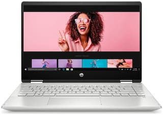 HP Pavilion x360 Core i7 11th Gen - (8 GB/512 GB SSD/Windows 10 Home) 14-dw1040TU 2 in 1 Laptop  (14 inch, Natural Silver, 1.61 kg, With MS Office)