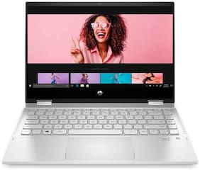 HP Pavilion x360 Core i3 11th Gen - (8 GB/512 GB SSD/Windows 10 Home) 14-dw1037TU 2 in 1 Laptop  (14 inch, Natural Silver, 1.61 kg, With MS Office)