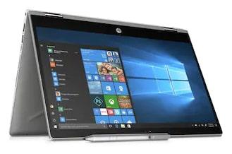 HP Pavilion x360 (Core i3 -8th Gen / 4GB / 1TB / 8 GB SSD / 35.56 cm (14 Inch) FHD touchscreen / Windows 10 (Microsoft Office HandS)) 14-CD0077TU Convertible Laptop (Natural Silver, 1.68 kg)