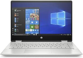 HP Pavilion x360 (Intel Core i5-10th Gen/8 GB/512 GB SSD/39.62 cm (14 inch)/Windows 10 Home/MS Office) 14-dh1179TU 2 in 1 Laptop (Mineral Silver, 1.58 kg)