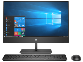 HP ProOne 400 G4 All In One PC/Core i3 8th -Gen /4GB DDR4/1 TB HDD/WIN 10 PRO/20 inch Monitor (Black)