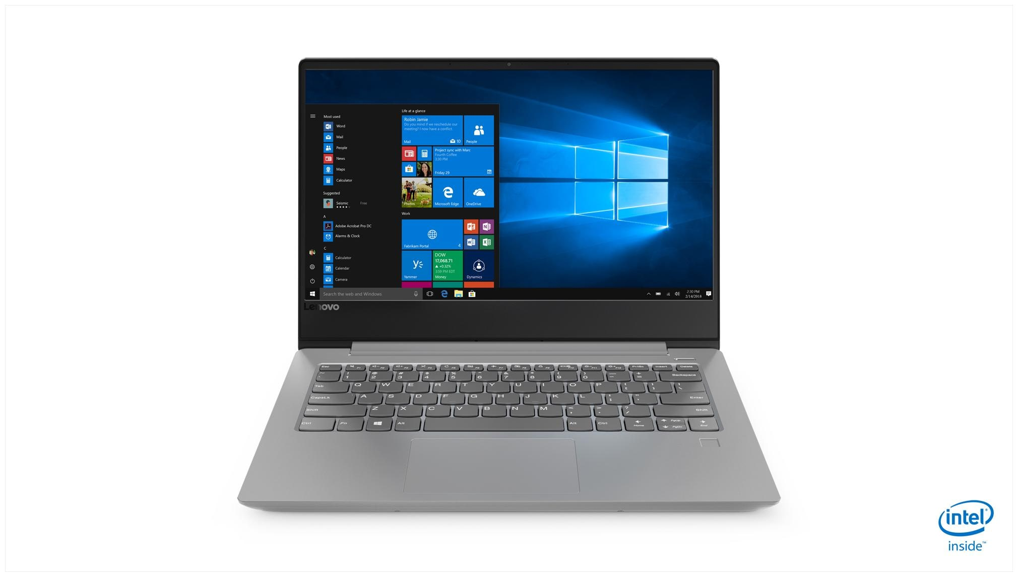 Lenovo Ideapad 330S (Core i5 - 8th Gen/4 GB RAM + 16 GB Optane/1 TB HDD/35.56 cm (14 Inch) FHD/Windows 10) 81F400PFIN Thin and Light Laptop (Platinum Grey, 1.67 Kg)