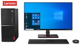 Lenovo V530 Desktop Pc Intel Core i3 9th Gen 9100 (4GB RAM/ 1TB HDD/ Dos/ Integrated Graphics) Monitor Lenovo E2054 19.5 Inch | Speakers, Keyboard & Mouse