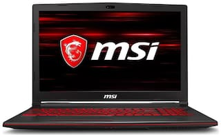 MSI GL (Core i7 - 8th Gen / 8 GB / 1 TB HDD + 128 GB SSD / 39.62 cm (15.6 inch ) FHD / Windows 10 Home / 4 GB Graphics) GL63 8RD-450IN Gaming Laptop (Black, 2.2 kg)