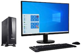 RDP Desk PC BWJ37103PA - Intel  Pentium Processor J3710 - 4GB RAM - 500GB HDD - Windows 10 Pro - 19.5 inch  HD LED Monitor (Black)