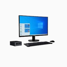 RDP Edge PC CML1051DA - Intel Core i5-10210U Processor, up to 4.20 GHz/4 GB RAM/500 GB HDD + 500 GB SSD/19.5 inch/HD LED Monitor/Free DOS/Intel Integrated/With Numeric Keypad
