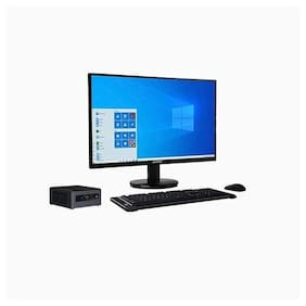 RDP Edge PC CML1052WA - Intel Core i5-10210U Processor, up to 4.20 GHz/4 GB RAM/500 GB HDD + 500 GB SSD/19.5 inch/HD LED Monitor/Windows 10 Home/Intel Integrated/With Numeric Keypad