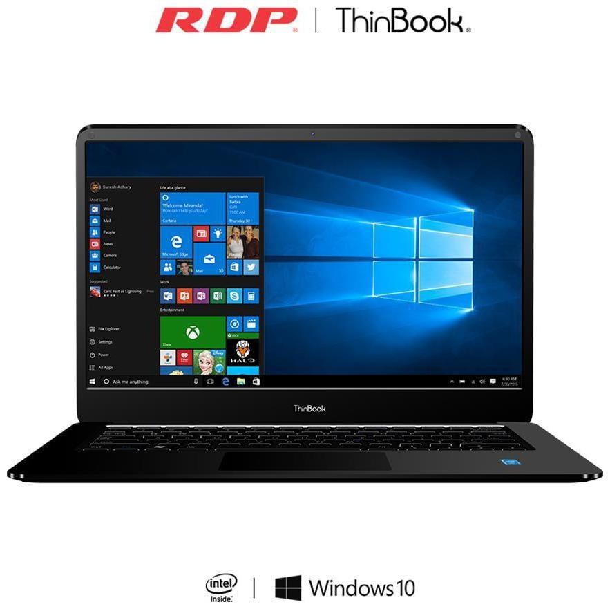 RDP ThinBook 1430b (Atom Quad Core/ 2 GB/ 32 GB/ Windows 10 Home/35.81 cm (14.1)) (Black) image