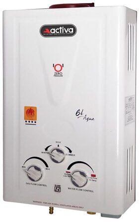 ACTIVA AQUA 6 Ltr Gas Water Geyser (White)