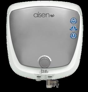 AISEN New Stella 10ltr Mettalice Silver Storage water Heater