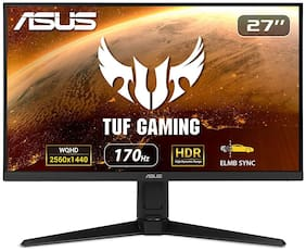 ASUS TUF VG27AQL1A 27 Inch WQHD Gaming Monitor with 170Hz Refresh Rate 1ms Response Time in-Built 2W Speakers and USB 3.0 Connectivity