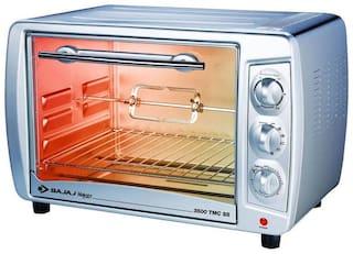 Bajaj 35 ltr Otg Microwave Oven - 3500 TMCSS , Silver