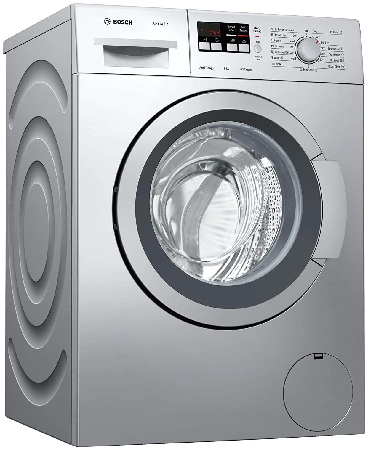 Bosch 7 Kg Fully automatic front load Washing machine   WAK2416SIN , Silver by Deals Master
