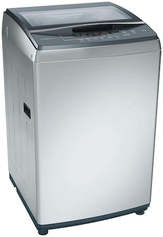 Bosch 7 kg Fully Automatic Top Load Washer with dryer - WOA702SOIN , Silver