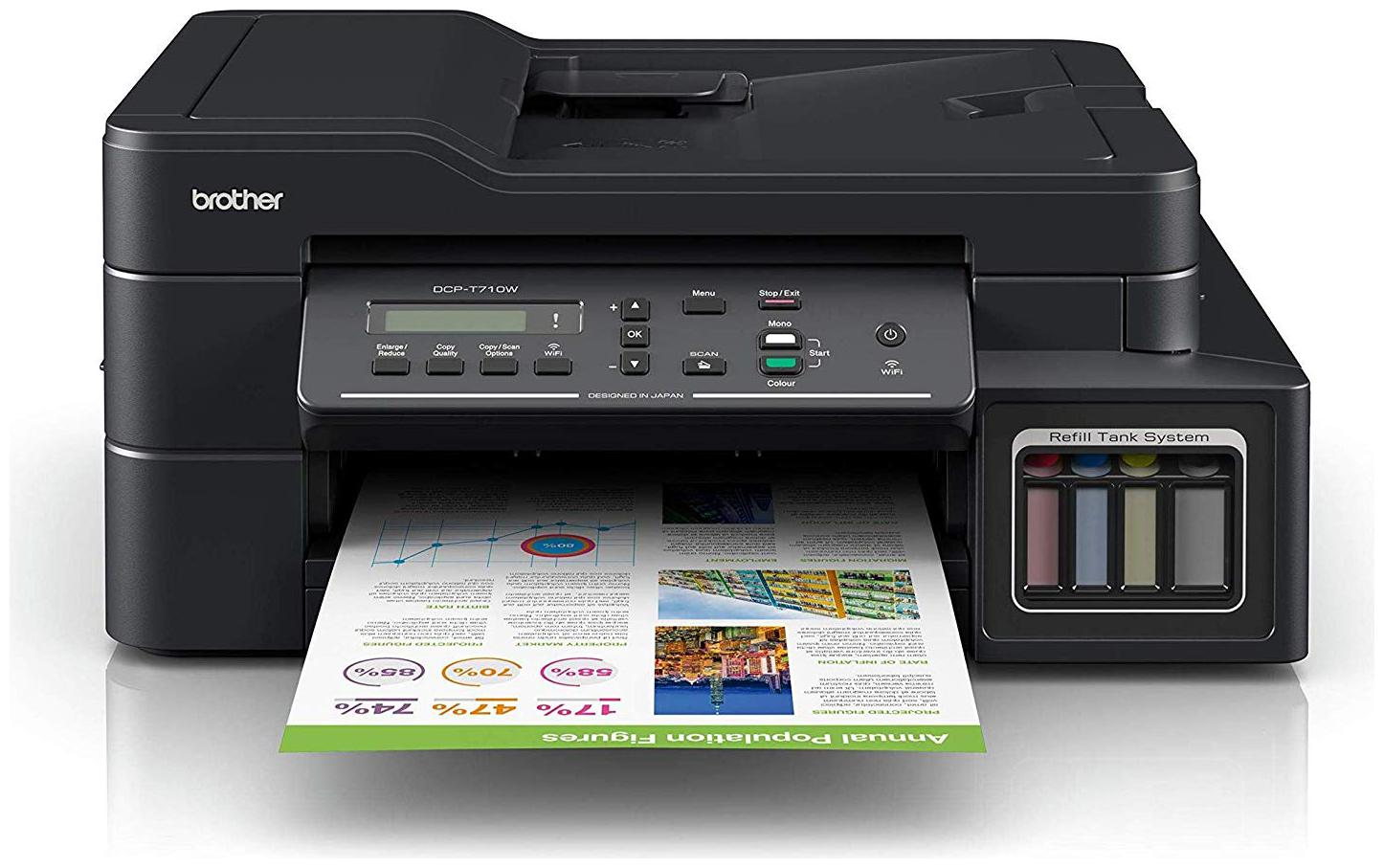 Brother DCP T710W Multi Function Inktank Printer by Tech Market