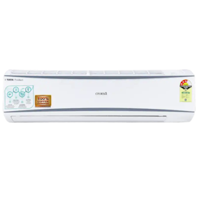 Croma 1.5 Ton 3 Star Split AC (CRAC7722, Copper Condenser, White) With Free Installation