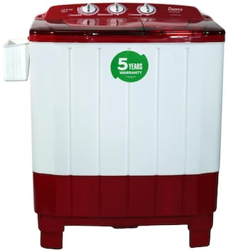 DAENYX 6.8 Kg Semi automatic top load Washing machine - MAGNA SAWM , White & Maroon