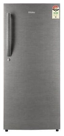 Haier 195 L 4 star Direct cool Refrigerator - HRD-1954CBS-E , Brushline silver
