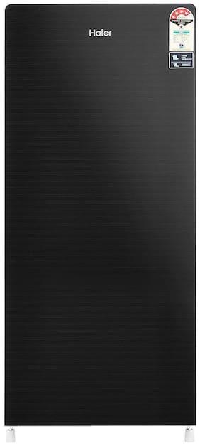 Haier 195 L 4 star Direct cool Refrigerator - HRD-1954CKG , Black