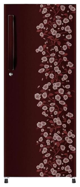 Haier 195 L 4 star Direct cool Refrigerator - HRD-1954CRD-R , Red