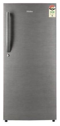 Haier 195 L 4 star Direct cool Refrigerator   HRD 1954CBS E , Brushline silver