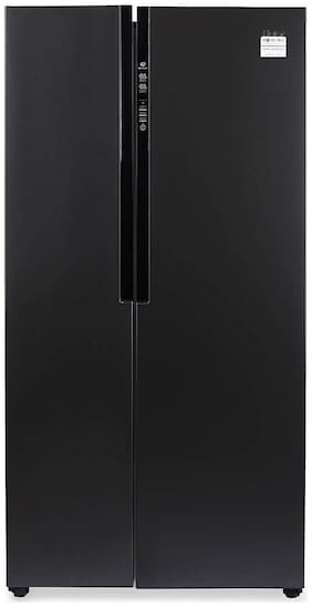 Haier 565 L Frost Free Side by Side Inverter Technology Star Refrigerator  (Black Steel, HRF-619KS)