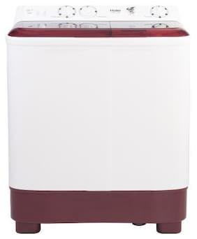 Haier 6.5 Kg Semi Automatic Top Load Washing machine - HTW65-1187BT , Maroon & White