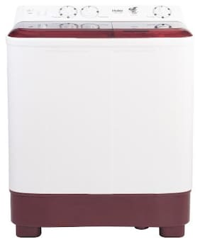 Haier 6.5 Kg Semi automatic top load Washing machine - HTW65-1187BT , Maroon & White