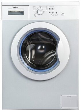Haier 6 Kg Fully Automatic Front Load Washing Machine (HW60-1010AS-1, Silver & Grey)